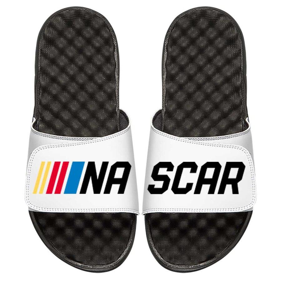 ISLIDE ロゴ サンダル 白 ホワイト 【 SLIDE WHITE ISLIDE NASCAR SPLIT LOGO SANDALS 】 メンズ サンダル スポーツサンダル