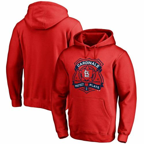 FANATICS BRANDED カーディナルス ST. 【 LOUIS CARDINALS POLICE BADGE PULLOVER HOODIE RED 】 メンズファッション トップス パーカー 送料無料