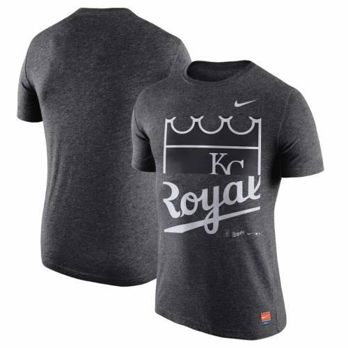 ナイキ NIKE カンザス シティ ロイヤルズ クーパーズタウン コレクション ロゴ Tシャツ メンズファッション トップス カットソー メンズ 【 Kansas City Royals Cooperstown Collection Logo Tri-blend T-sh