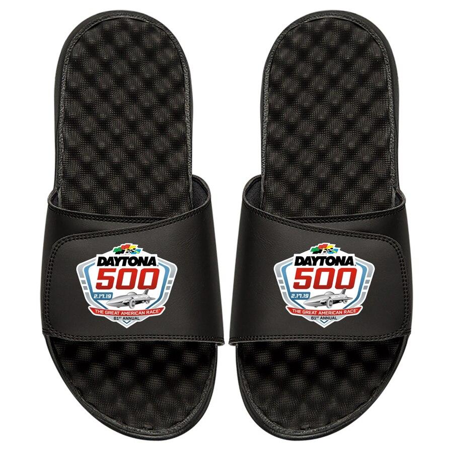 ISLIDE ロゴ サンダル 黒 ブラック 【 SLIDE BLACK ISLIDE NASCAR 2019 DAYTONA 500 COLOR LOGO SANDALS 】 メンズ サンダル スポーツサンダル