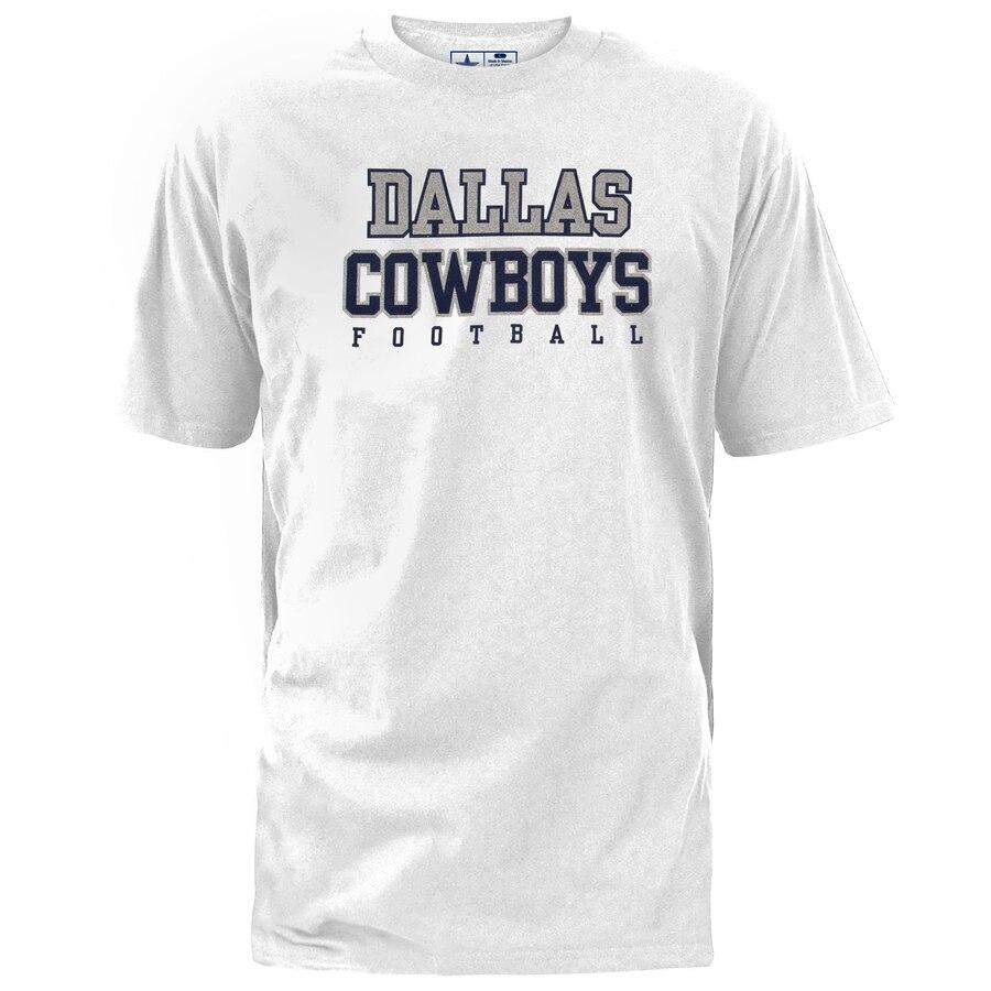 DALLAS COWBOYS MERCHANDISE ダラス カウボーイズ プラクティス Tシャツ 【 PRACTICE TSHIRT WHITE 】 メンズファッション トップス カットソー 送料無料