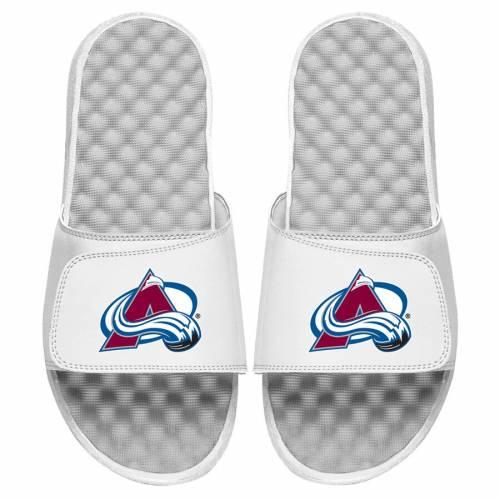 ISLIDE コロラド 子供用 ロゴ サンダル キッズ ベビー マタニティ ジュニア 【 Colorado Avalanche Youth Primary Logo Slide Sandals 】 White