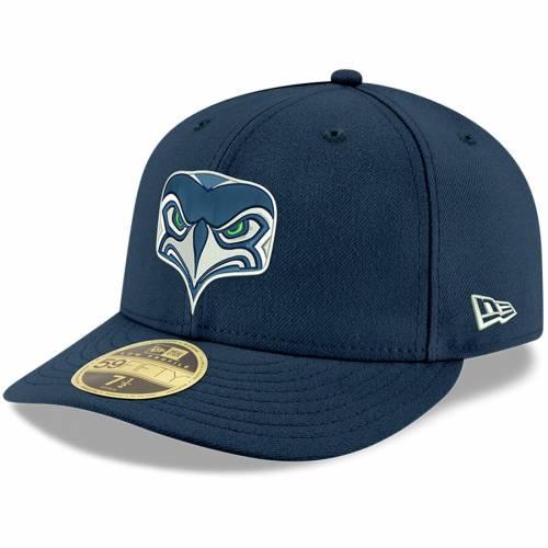 ニューエラ NEW ERA シアトル シーホークス 黒 ブラック バッグ キャップ 帽子 メンズキャップ メンズ 【 Seattle Seahawks Omaha Low Profile 59fifty Structured Hat - Black 】 Navy