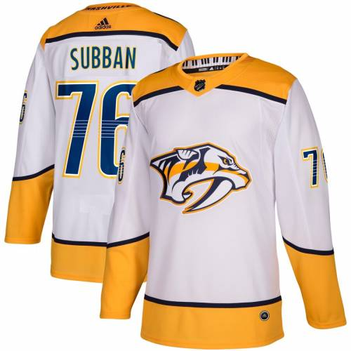 アディダス ADIDAS オーセンティック ジャージ 【 PK SUBBAN NASHVILLE PREDATORS AWAY AUTHENTIC PLAYER JERSEY WHITE 】 送料無料