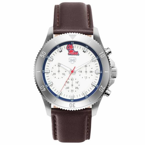 JACK MASON BRAND レザー ストラップ ウォッチ 時計 【 WATCH JACK MASON BRAND OLE MISS REBELS CHRONOGRAPH LEATHER STRAP COLOR 】 腕時計 メンズ腕時計