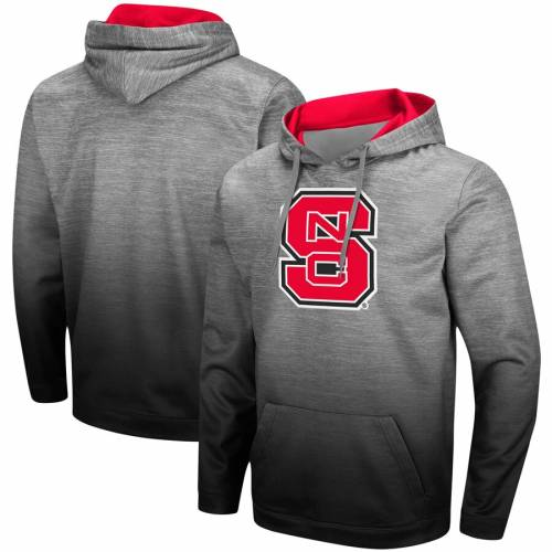 COLOSSEUM スケートボード ウルフパック フーディー パーカー 灰色 グレー グレイ 赤 レッド  【 STATE GRAY RED COLOSSEUM NC WOLFPACK SITWELL SUBLIMATED PULLOVER HOODIE HEATHERED 】 メンズファッション トップ:スニケス