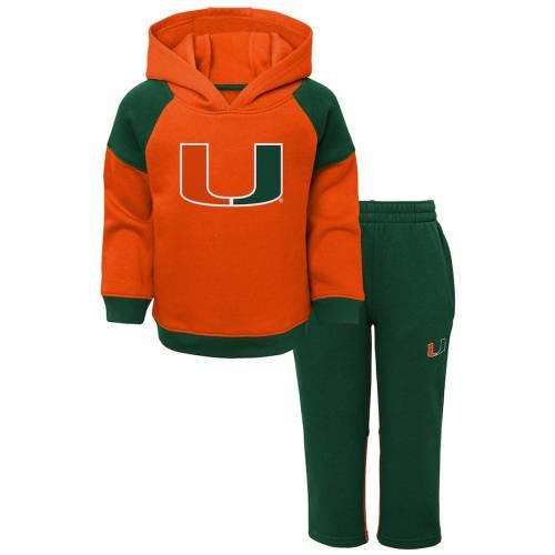 OUTERSTUFF マイアミ ベビー 赤ちゃん用 サイドライン 橙 オレンジ キッズ マタニティ ジュニア 【 Miami Hurricanes Toddler Sideline Pullover Hoodie And Pants Set - Orange 】 Orange
