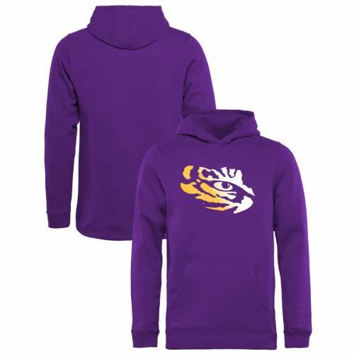 FANATICS BRANDED タイガース 子供用 ロゴ 紫 パープル キッズ ベビー マタニティ トップス ジュニア 【 Lsu Tigers Youth Gradient Logo Pullover Hoodie - Purple 】 Purple