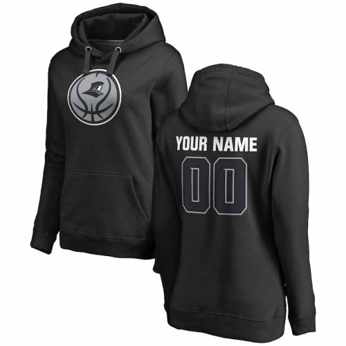 FANATICS BRANDED プロビデンス レディース ゲーム バスケットボール [CUSTOMIZED ITEM] WOMEN'S & 【 GAME PROVIDENCE FRIARS BALL BASKETBALL PERSONALIZED ANY NAME NUMBER PULLOVER HOODIE BLACK 】 レディースファッション