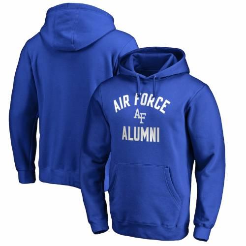 FANATICS BRANDED エア ファルコンズ チーム メンズファッション トップス パーカー メンズ 【 Air Force Falcons Team Alumni Pullover Hoodie - Royal 】 Royal