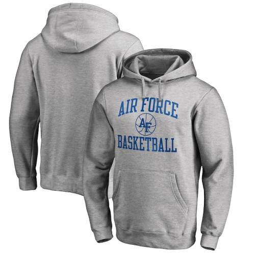 FANATICS BRANDED エア ファルコンズ 灰色 グレー グレイ メンズファッション トップス パーカー メンズ 【 Air Force Falcons In Bounds Pullover Hoodie - Heathered Gray 】 Heathered Gray