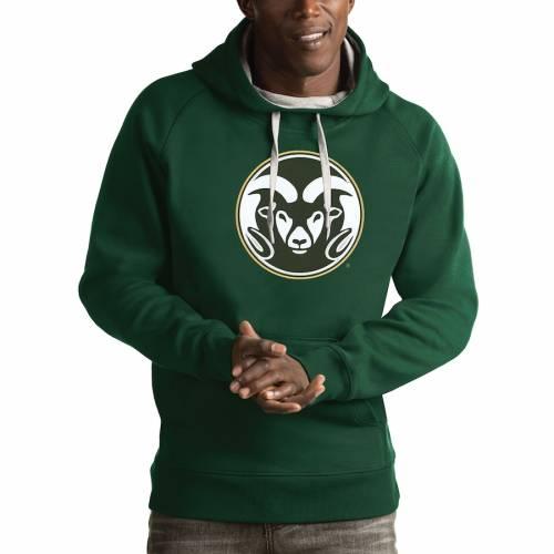 ANTIGUA コロラド スケートボード ラムズ ビクトリー 灰色 グレー グレイ メンズファッション トップス パーカー メンズ 【 Colorado State Rams Victory Pullover Hoodie - Gray 】 Green