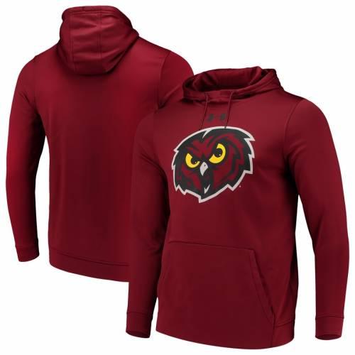 アンダーアーマー UNDER ARMOUR テンプル ロゴ メンズファッション トップス パーカー メンズ 【 Temple Owls Big Logo Pullover Expansion Hoodie - Garnet 】 Garnet