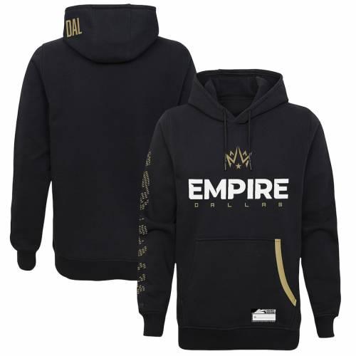 OUTERSTUFF ダラス オーセンティック 黒 ブラック メンズファッション トップス パーカー メンズ 【 Dallas Empire Alternate Authentic Player Pullover Hoodie - Black 】 Black