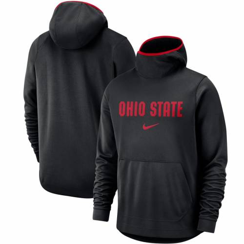 ナイキ NIKE オハイオ スケートボード バスケットボール チーム ロゴ パフォーマンス 黒 ブラック メンズファッション トップス パーカー メンズ 【 Ohio State Buckeyes Basketball Spotlight Team Log