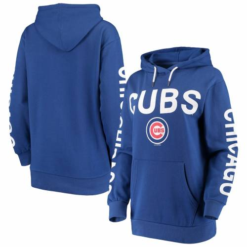 G-III 4HER BY CARL BANKS シカゴ カブス レディース レディースファッション トップス パーカー 【 Chicago Cubs Womens Extra Inning Colorblock Pullover Hoodie - Royal 】 Royal