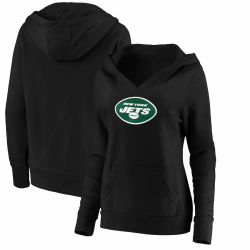 NFL PRO LINE BY FANATICS BRANDED ジェッツ レディース チーム ロゴ 黒 ブラック レディースファッション トップス パーカー 【 New York Jets Womens Primary Team Logo Pullover Hoodie - Black 】 Black