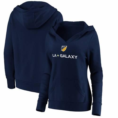 FANATICS BRANDED レディース ロゴ 紺 ネイビー レディースファッション トップス パーカー 【 La Galaxy Womens Shielded Logo Pullover Hoodie - Navy 】 Navy