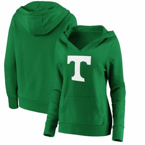 FANATICS BRANDED テネシー レディース 白 ホワイト ロゴ 緑 グリーン St. レディースファッション トップス パーカー 【 Tennessee Volunteers Womens St. Patricks Day White Logo Pullover Hoodie - Green 】 Green