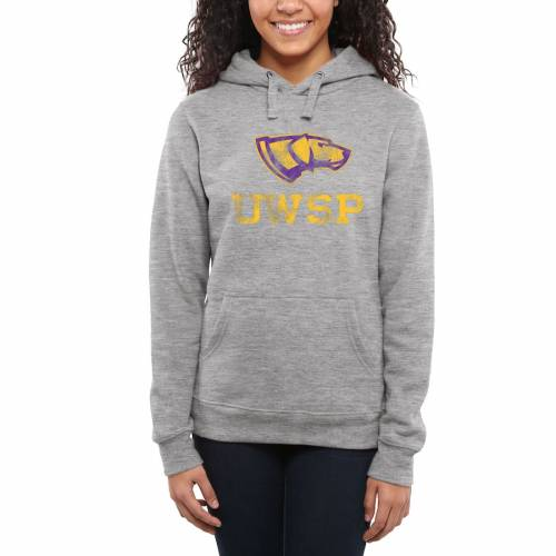FANATICS BRANDED レディース クラシック レディースファッション トップス パーカー 【 Wisconsin-stevens Point Pointers Womens Classic Primary Pullover Hoodie - Ash - 】 Ash