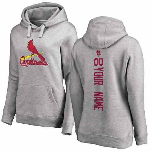 FANATICS BRANDED カーディナルス レディース ヘザー 灰色 グレー グレイ St. レディースファッション トップス パーカー 【 [customized Item] St. Louis Cardinals Womens Personalized Playmaker Pullover Hoodie - He