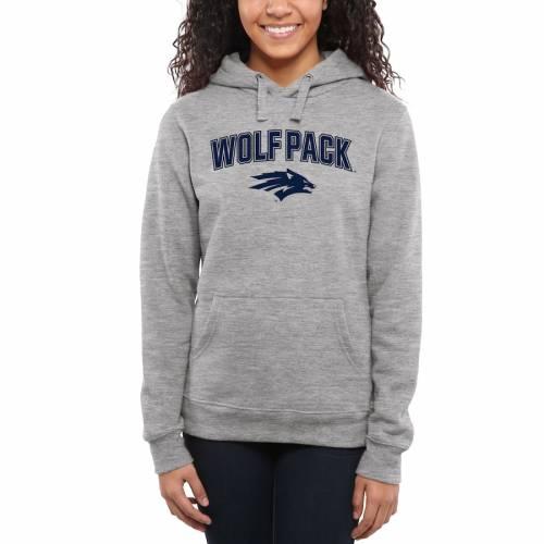 FANATICS BRANDED レディース レディースファッション トップス パーカー 【 Nevada Wolf Pack Womens Proud Mascot Pullover Hoodie - Ash - 】 Ash