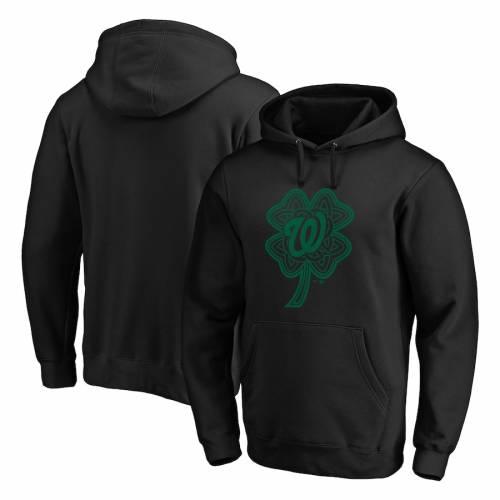 FANATICS BRANDED ワシントン ナショナルズ 黒 ブラック St. メンズファッション トップス パーカー メンズ 【 Washington Nationals St. Patricks Day Celtic Charm Pullover Hoodie - Black 】 Black