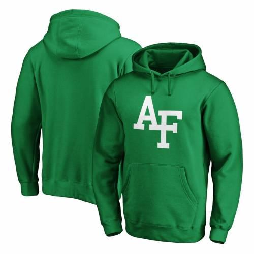 FANATICS BRANDED エア ファルコンズ 白 ホワイト ロゴ 緑 グリーン St. メンズファッション トップス パーカー メンズ 【 Air Force Falcons St. Patricks Day White Logo Pullover Hoodie - Green 】 Green