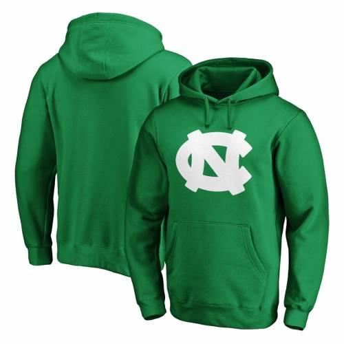 FANATICS BRANDED ノース カロライナ 白 ホワイト ロゴ 緑 グリーン St. メンズファッション トップス パーカー メンズ 【 North Carolina Tar Heels St. Patricks Day White Logo Pullover Hoodie - Green 】 Green