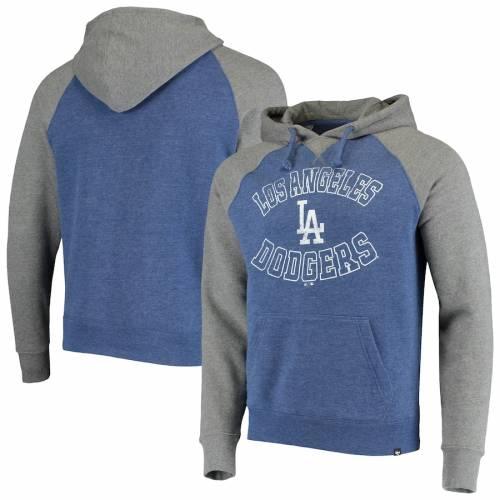 '47 ドジャース マッチ ラグラン メンズファッション トップス パーカー メンズ 【 Los Angeles Dodgers Match Raglan Pullover Hoodie - Royal 】 Royal