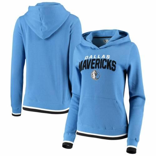 ニューエラ NEW ERA ダラス マーベリックス レディース フリース 青 ブルー レディースファッション トップス パーカー 【 Dallas Mavericks Womens Fleece Chenille Flocking Pullover Hoodie - Blue 】 Blue