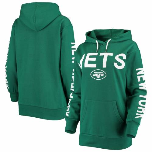 G-III 4HER BY CARL BANKS ジェッツ レディース 緑 グリーン レディースファッション トップス パーカー 【 New York Jets Womens Extra Point Pullover Hoodie - Green 】 Green
