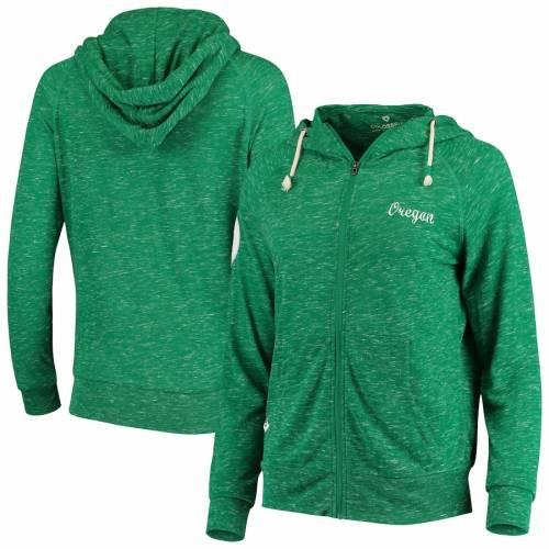 COLOSSEUM オレゴン レディース 緑 グリーン レディースファッション トップス パーカー 【 Oregon Ducks Womens April Full-zip Hoodie - Green 】 Green