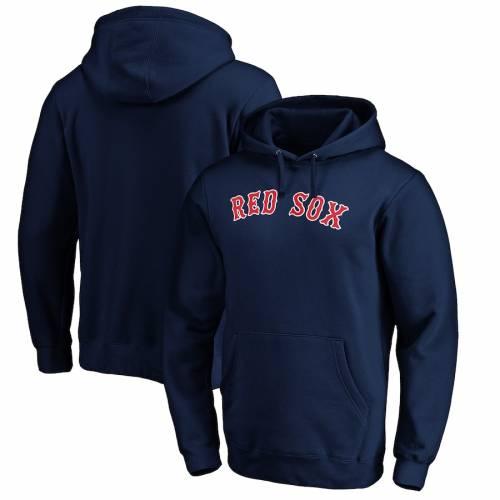 FANATICS BRANDED ボストン 赤 レッド 紺 ネイビー メンズファッション トップス パーカー メンズ 【 Boston Red Sox Official Wordmark Pullover Hoodie - Navy 】 Navy