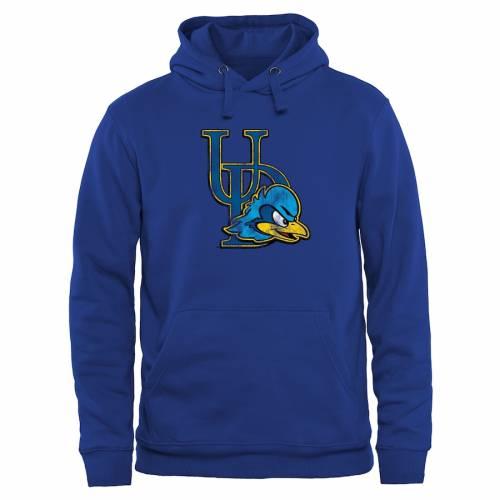 FANATICS BRANDED 青 ブルー クラシック メンズファッション トップス パーカー メンズ 【 Delaware Fightin Blue Hens Classic Primary Pullover Hoodie - Royal Blue 】 Royal Blue