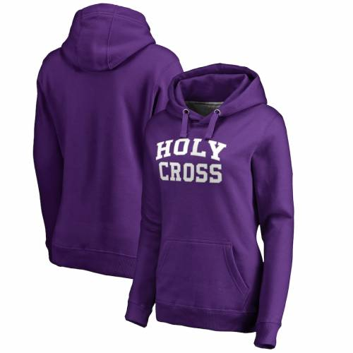 FANATICS BRANDED レディース 紫 パープル レディースファッション トップス パーカー 【 Holy Cross Crusaders Womens Everyday Pullover Hoodie - Purple 】 Purple