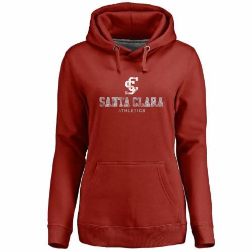 FANATICS BRANDED ブロンコス レディース クラシック レディースファッション トップス パーカー 【 Santa Clara Broncos Womens Classic Primary Pullover Hoodie - Crimson 】 Crimson
