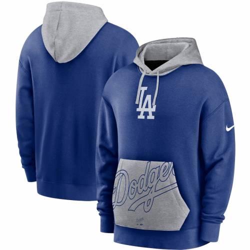 ナイキ NIKE ドジャース メンズファッション トップス パーカー メンズ 【 Los Angeles Dodgers Heritage Tri-blend Pullover Hoodie - Royal/gray 】 Royal/gray