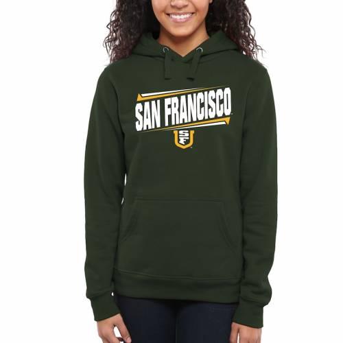 FANATICS BRANDED レディース 緑 グリーン レディースファッション トップス パーカー 【 San Francisco Dons Womens Double Bar Pullover Hoodie - Green 】 Green