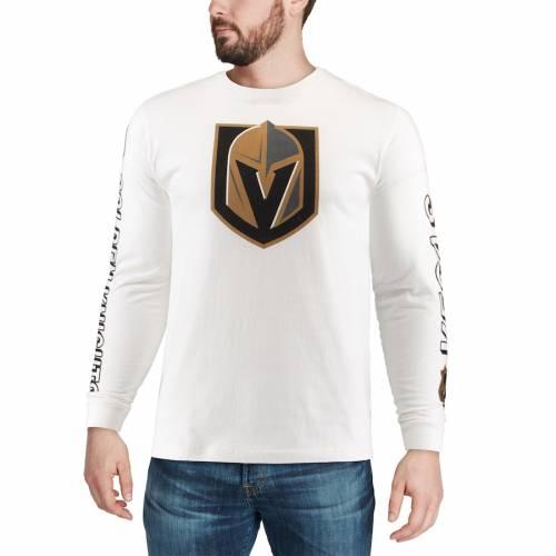 RED JACKET スリーブ Tシャツ 白 ホワイト メンズファッション トップス カットソー メンズ 【 Vegas Golden Knights Maverick Long Sleeve T-shirt - White 】 White
