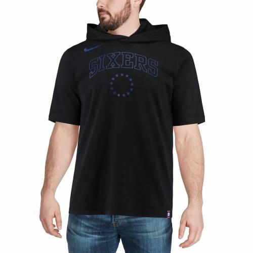 ナイキ NIKE フィラデルフィア セブンティシクサーズ ロゴ Tシャツ 黒 ブラック 【 76ERS BLACK NIKE PHILADELPHIA WORDMARK LOGO HOODIE TSHIRT 】 メンズファッション トップス Tシャツ カットソー