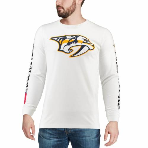 RED JACKET スリーブ Tシャツ 白 ホワイト メンズファッション トップス カットソー メンズ 【 Nashville Predators Maverick Long Sleeve T-shirt - White 】 White