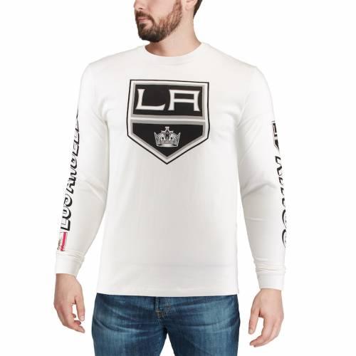 RED JACKET キングス スリーブ Tシャツ 白 ホワイト メンズファッション トップス カットソー メンズ 【 Los Angeles Kings Maverick Long Sleeve T-shirt - White 】 White