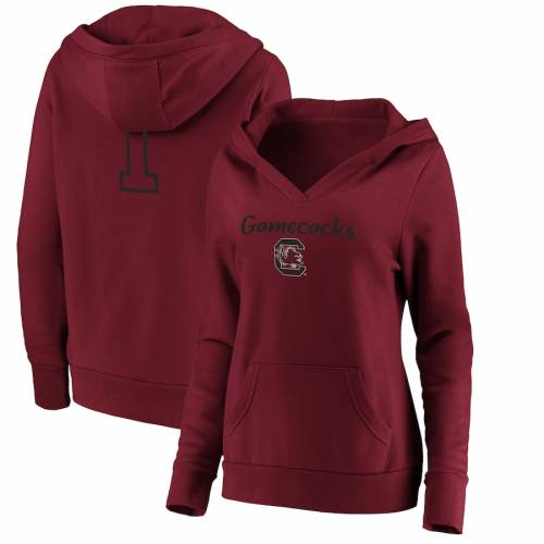 FANATICS BRANDED カロライナ レディース ブイネック WOMEN'S #1 【 FANATICS BRANDED SOUTH CAROLINA GAMECOCKS MOM VNECK PULLOVER HOODIE GARNET 】 レディースファッション トップス パーカー