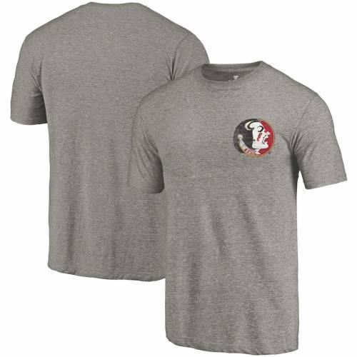 FANATICS BRANDED フロリダ スケートボード Tシャツ 灰色 グレー グレイ メンズファッション トップス カットソー メンズ 【 Florida State Seminoles Vault Tri-blend T-shirt - Heathered Gray 】 Heathered Gray