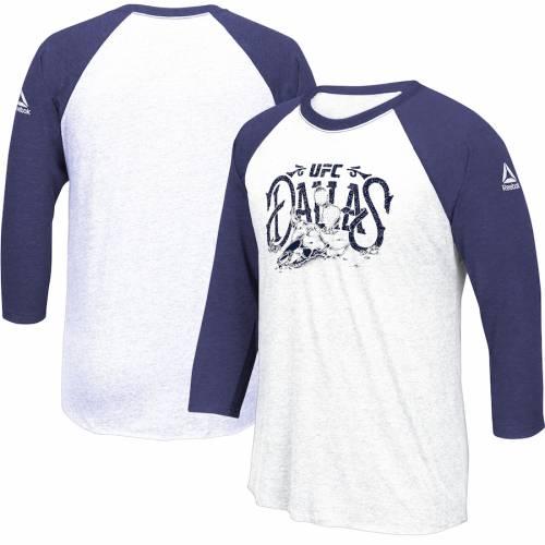 リーボック REEBOK ラグラン スリーブ Tシャツ メンズファッション トップス カットソー メンズ 【 Ufc 228 Weigh-in Raglan Long Sleeve T-shirt - Navy/white 】 Navy/white