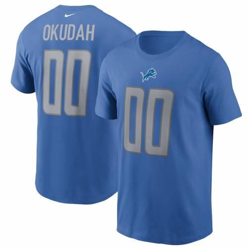 かわいい! ナイキ NIKE デトロイト ライオンズ Tシャツ 青色 ブルー & 【 NIKE JEFF OKUDAH NAME NUMBER TSHIRT BLUE 】 メンズファッション トップス Tシャツ カットソー, サンジョウシ b39311b3
