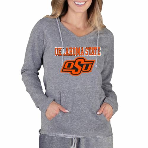 CONCEPTS SPORT スケートボード カウボーイズ レディース 灰色 グレー グレイ WOMEN'S 【 STATE GRAY CONCEPTS SPORT OKLAHOMA COWBOYS MAINSTREAM LIGHTWEIGHT TERRY PULLOVER HOODIE 】 レディースファッション トップ