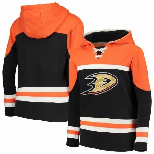 OUTERSTUFF 子供用 黒 ブラック キッズ ベビー マタニティ ジュニア 【 Anaheim Ducks Youth Asset Pullover Hoodie - Black 】 Black