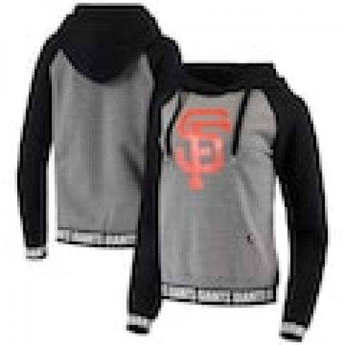 スポーツブランド カジュアル ファッション ジャケット パーカー ベスト フォーティーセブン '47 ジャイアンツ レディース ラグラン フーディー WOMEN'S グレイ BLACK Seasonal Wrap入荷 グレー ブラック 黒色 灰色 レディースファッ RAGLAN サンフランシスコ BAND 公式ショップ GRAY